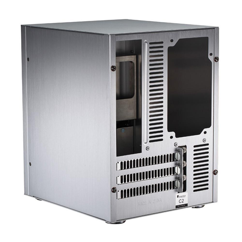 Jonsbo C2 Aluminum Computer PC Case Desktop PC Chassis for Mini ITX microATX
