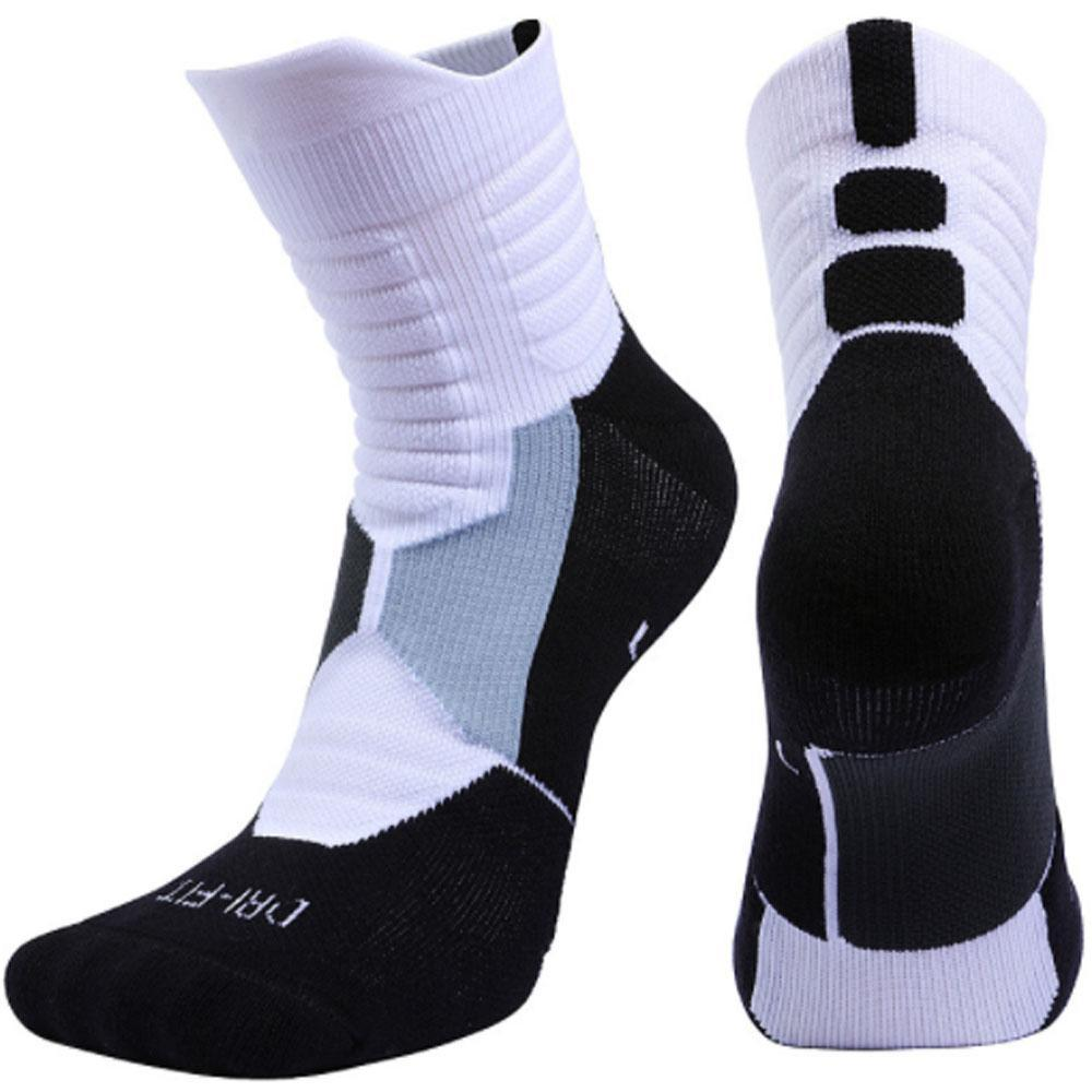 Elite Pure Knitted Dri-Fit Basketball Foot Mid Socks By A-To-Z Shop.