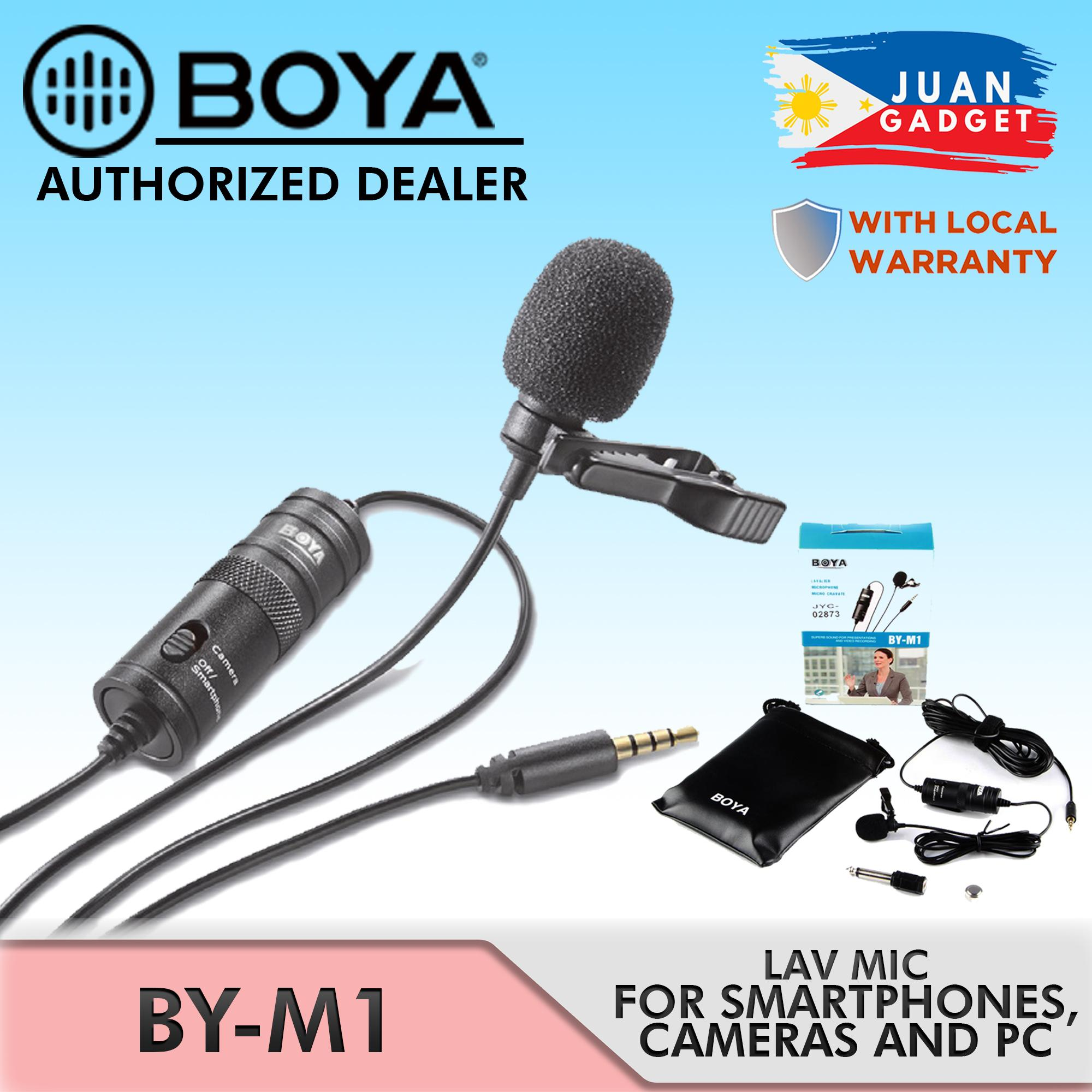BOYA BY-M1 Omni-Directional Lavalier Lapel Microphone for Smartphones and DSLR Cameras