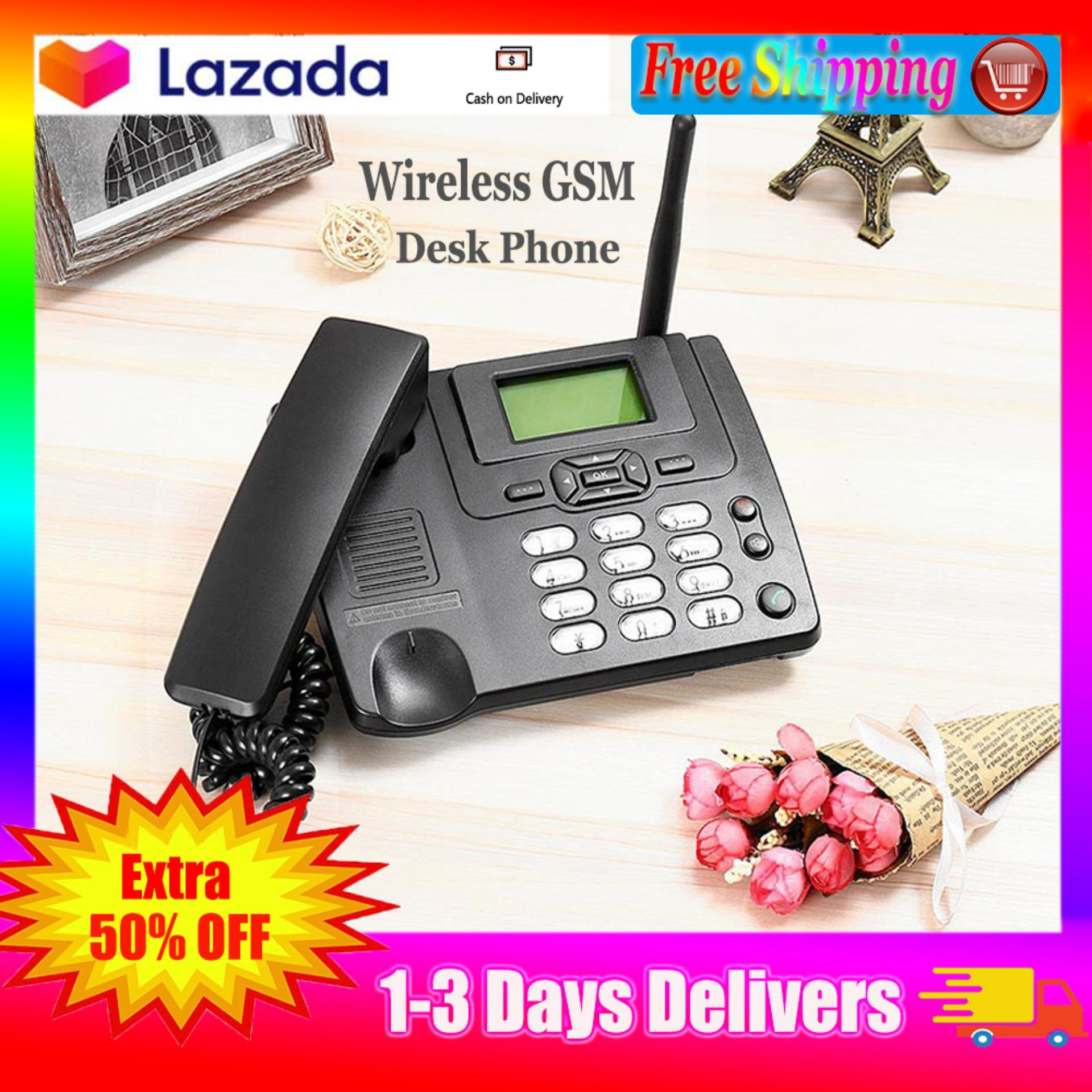 【Free Shipping】GSM Fixed Landline Wireless Family Phone Office Phone  Company Landline Phone Can be Inserted SIM Card Desktop Phone