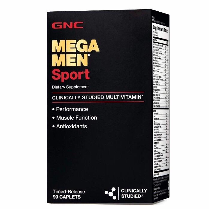 GNC Mega Men Sport - 90 count (from USA) Daily Multivitamins for Performance