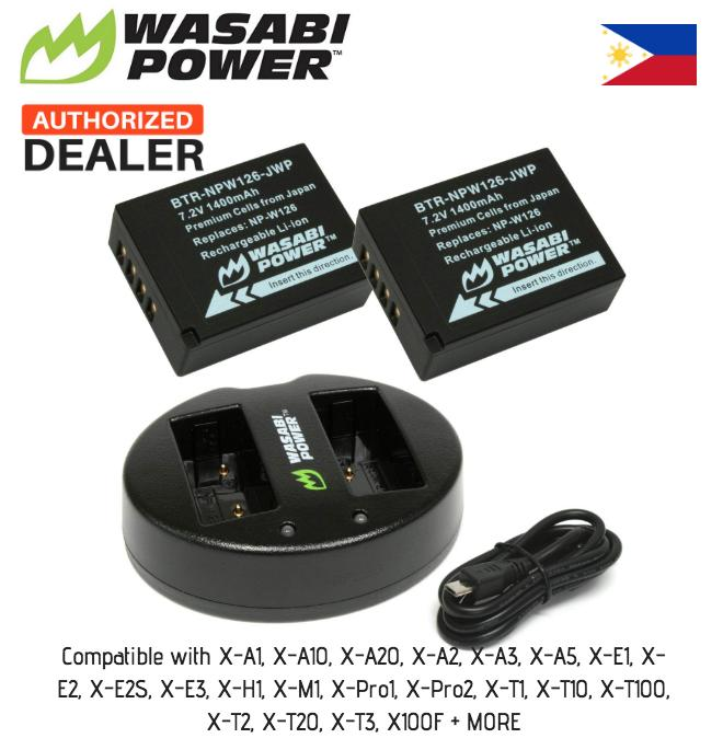 Wasabi Power Fujifilm Npw126 Np-W126 2pc Battery & Usb Dual Dock Charger (lee Photo) Npw126s Np-W126s By Lee Photo.