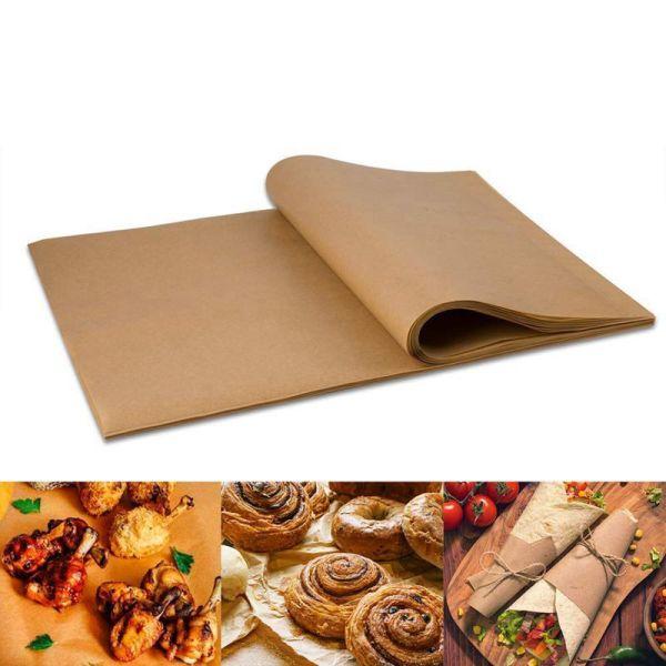 100pcs Paper Baking Liners Sheets, Precut 30x40cm Non-stick Wax Paper for Cook, Grill, Steam, Pans, Air Fryers, Hamburger Patty Paper