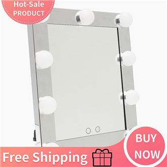 【Free Shipping】LED Vanity Lighted Hollywood Makeup Mirror with lights Dimmer Stage Beauty Touch - intl Philippines