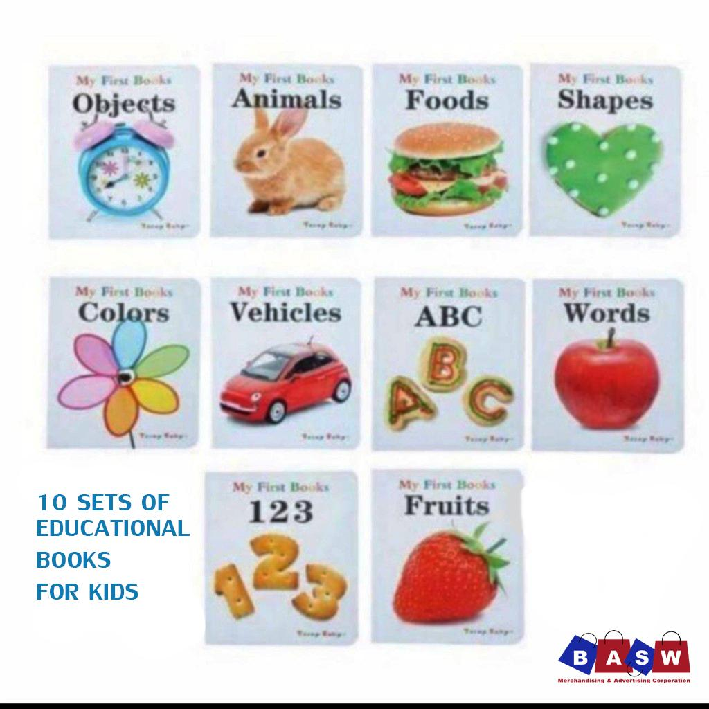 10 Sets Of Assorted Educational Learning Books For Babies, Kids, Children, Nursery, Kindergarten,pre-School, Affordable, High Quality, Gift Ideas For Christmas,animals, Shapes, Numbers, Colors By Basw Merchandising.