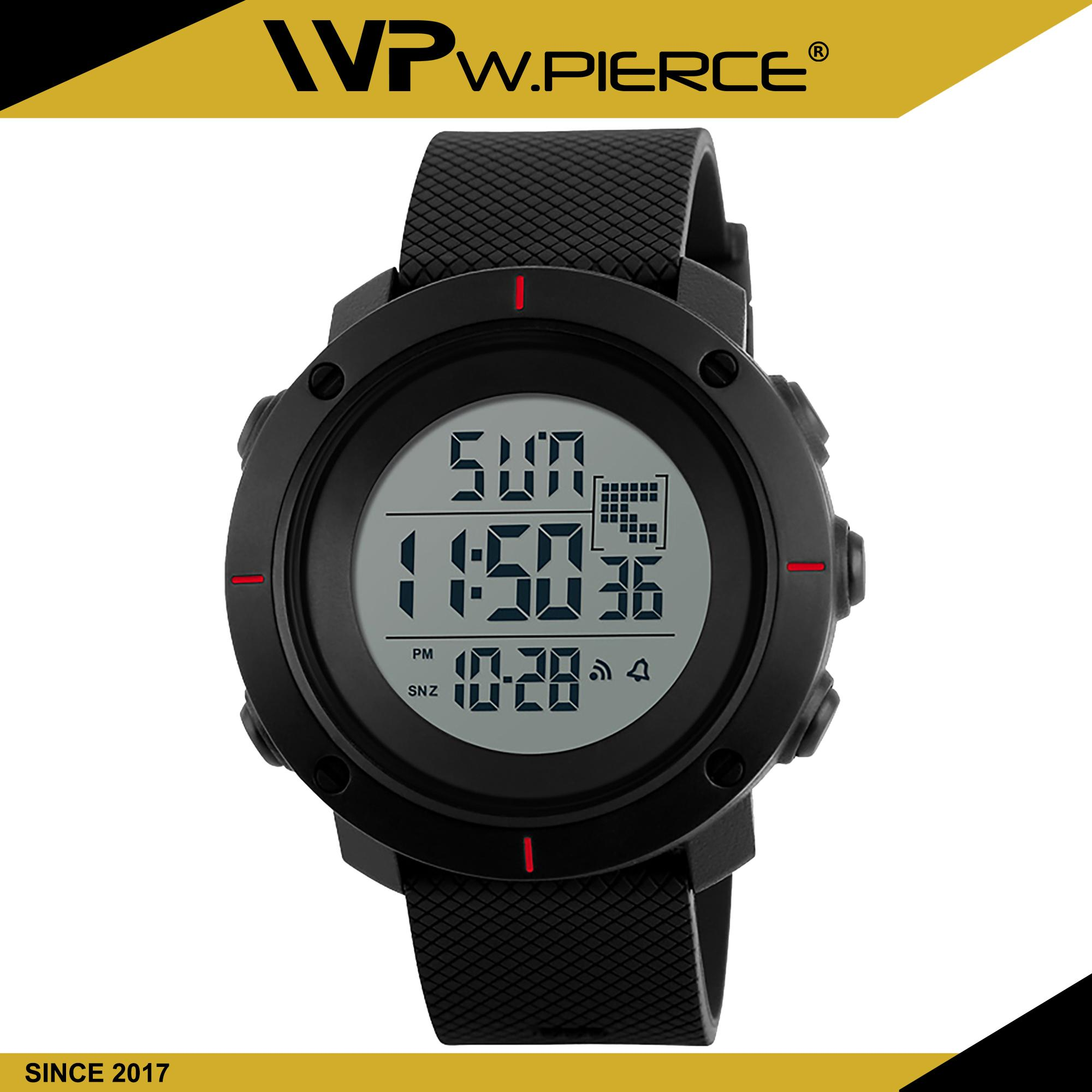 86cb10530 WPierce 1213 Men Big Dial Sports Watches Multifunction Chronograph 50M  Water Resistant Alarm Clock Date Digital