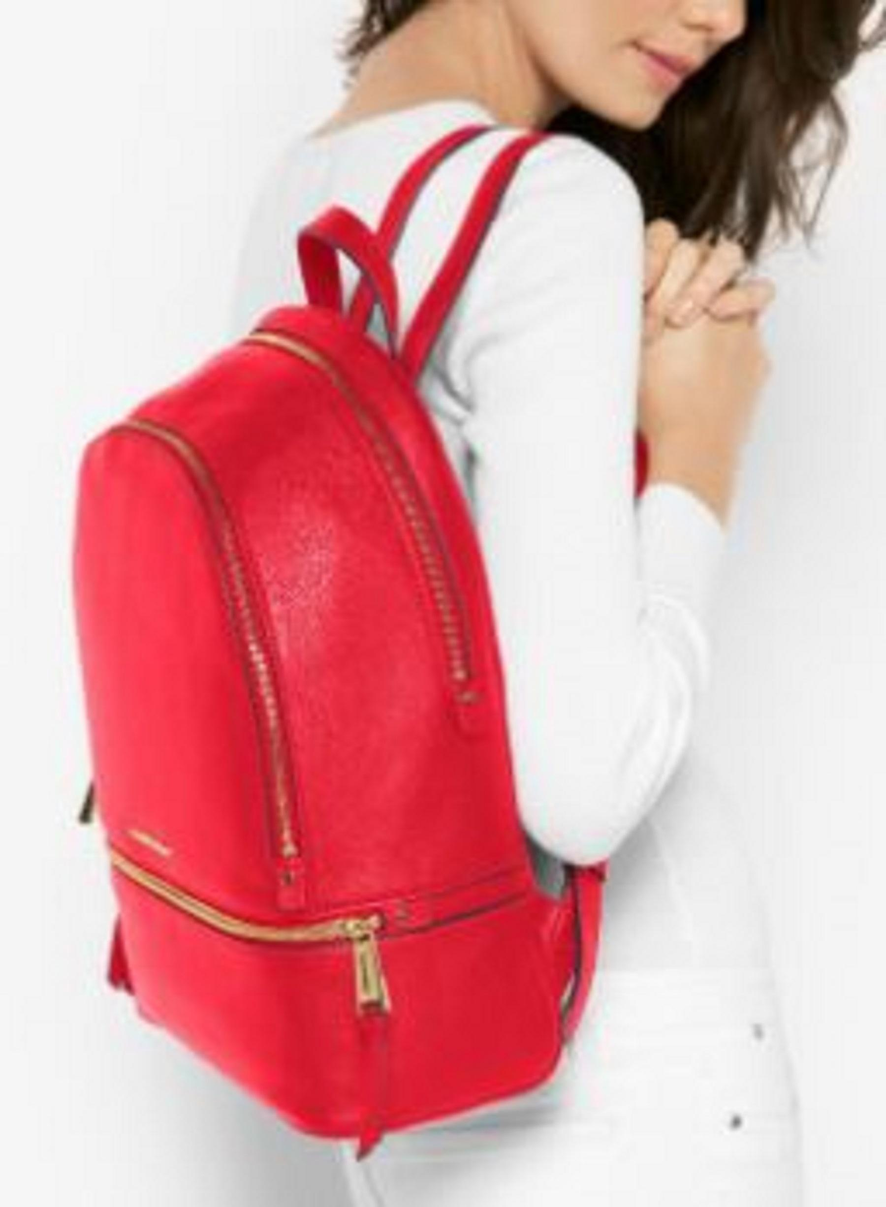 39f4802d520 Michael Kors - Rhea Large Leather Backpack - Red