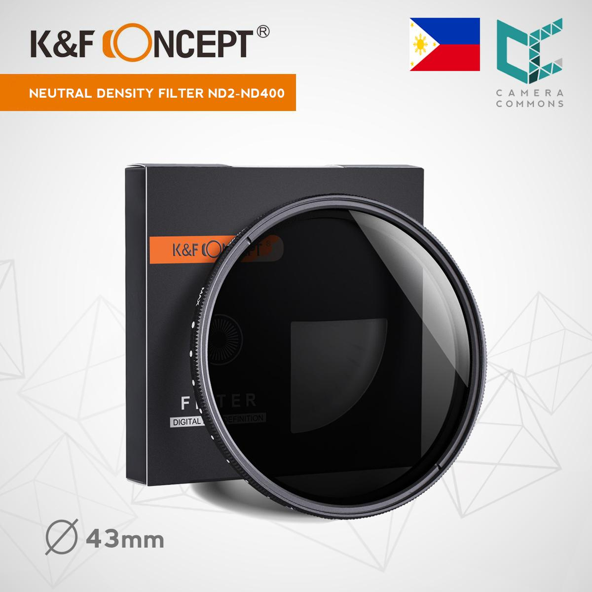 K/&F Concept 49mm ND Fader Variable Neutral Density Filter ND2 to ND400 for Camera Lens Ultra-Slim Multi Coated