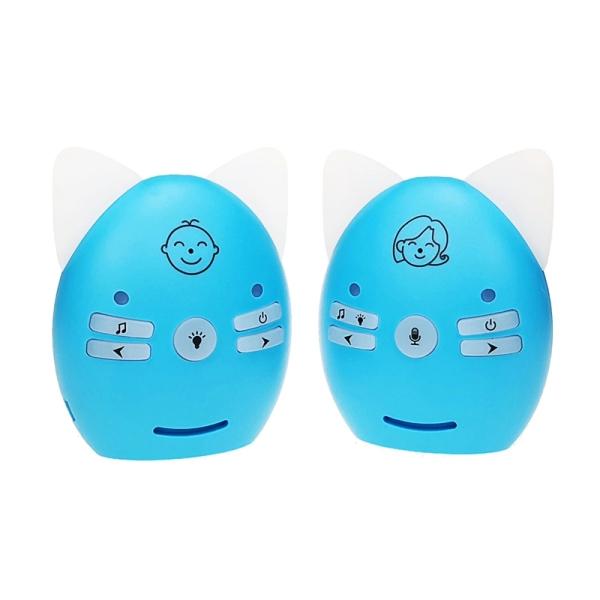 Portable Smart Wireless Baby Monitor Built-in Night Light Lullabies Two-Way Voice Intercom Sound Reminder Alarm