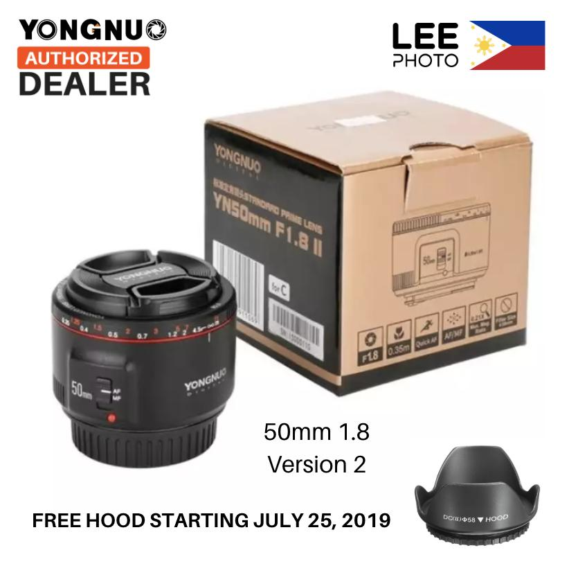 Yongnuo Canon 50MM YN50MM II Version 2 50mm f/1 8 Prime Lens for Canon EF  Auto Focus (Lee Photo)