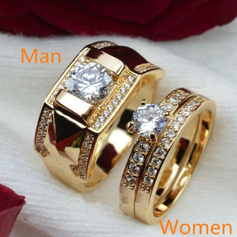 ca16ee9431d05 18K Gold Filled Diamond Men Size 7 To 14 Women Size 5 To 12 Engagement Ring
