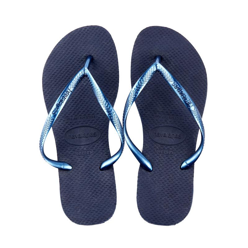 0a3392857a0c Havaianas black gold slippers flip-flops. (Dark blue color)