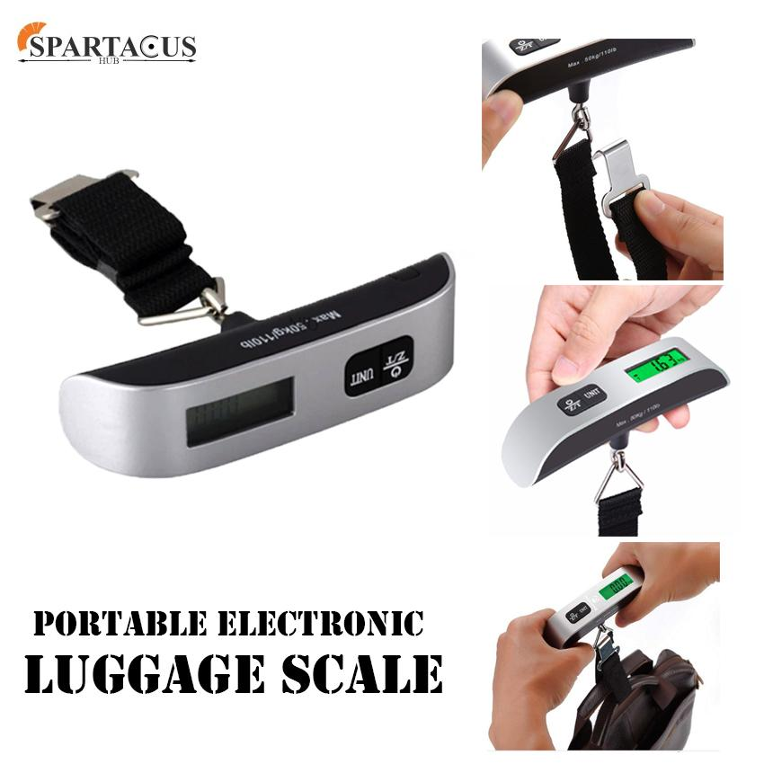 Portable Electronic Luggage Scale Max 50 Kg/110lb (sliver) By Spartacus Hub.