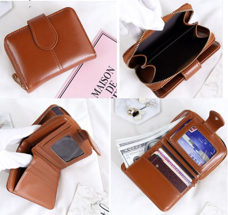 9a14c5aeb6 Korean Short Wallet Leather Wallet Card Holder Woman Wallet Hand Bag Card  Organizer Smart Wallet Fashion