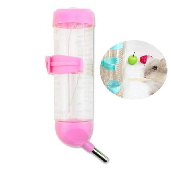 Pet Dog Water Dispenser, Hanging Automatic Water Drinking Feeder with No Drip Stainless Steel Ball for Small/Medium Puppy Animals - Food Grade, BPA Free - 125ML