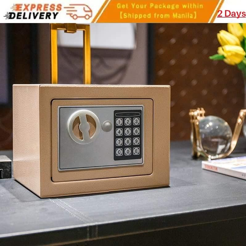All Steel Digital Electronic Keypad Lock Password Security Safe Deposit Box  Household Small Safe Mini Wall Bedside Table Fireproof Box Home Office