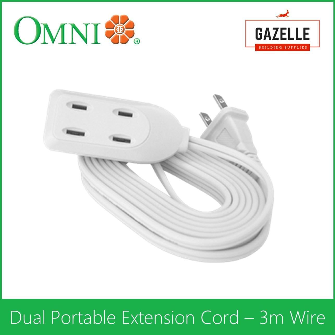 Extension Cord For Sale Electrical Cables Prices Brands Review Wiring Outdoor Sockets Uk Omni Dual Portable 3 Meter Wire Wdp 303