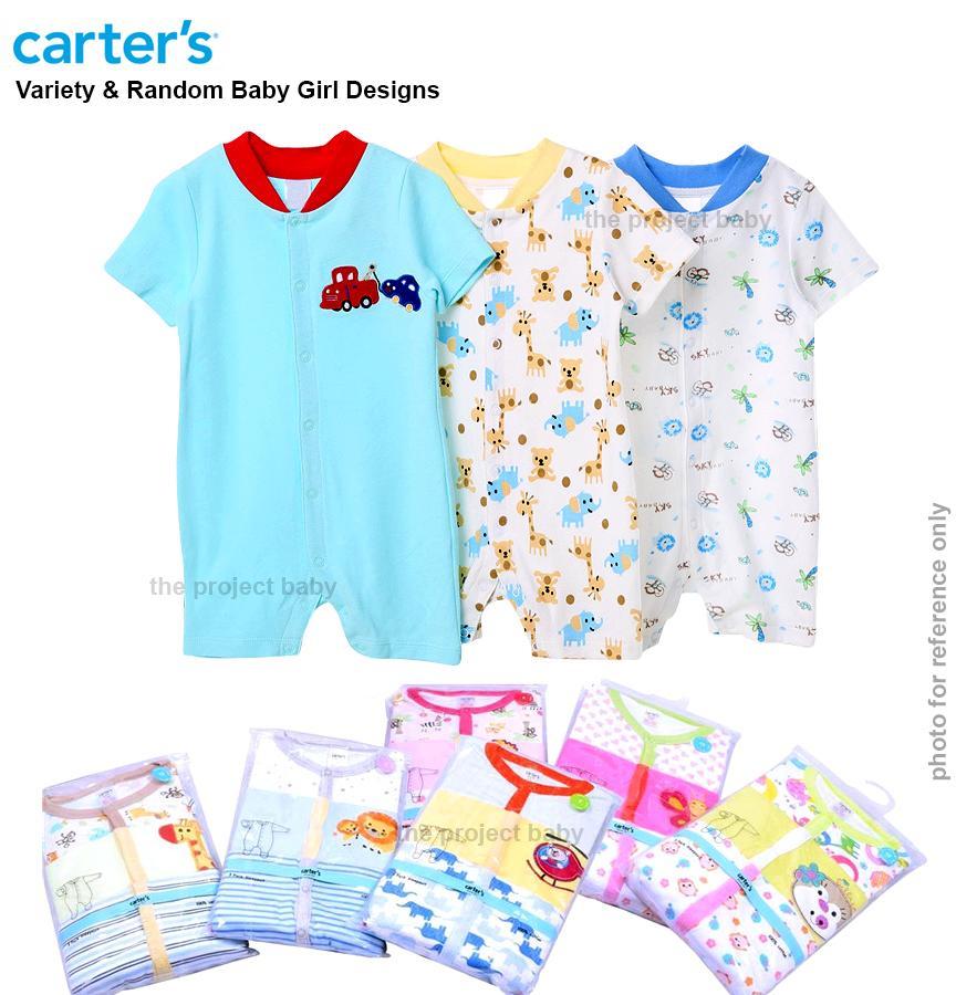 0d427a4d4 3pcs Carter's Blue fly Sleepsuit short bodysuit Romper for Baby Boy 100%  cotton jumpsuit onesie