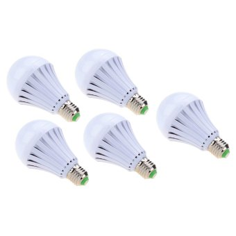 7W Intelligent Water Power Emergency Magic Light Bulb Set of 5