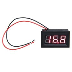 0.56inch LCD DC 3.2 -30V Red Panel Meter Digital Voltmeter with Two -wire