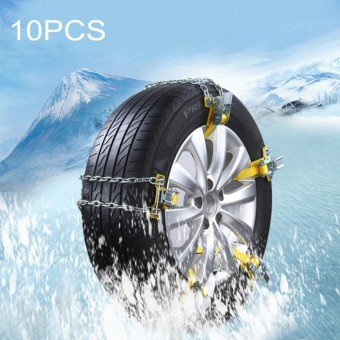 10 PCS Winter Car Snow Tire Anti-skid Chains Tyre Anti-slip Chains Metal Chains Gloves Snow Shovel Set for Family Car - intl