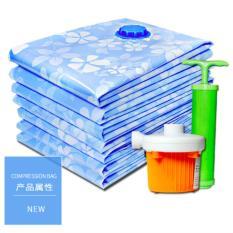 10 Pieces Travel Organizer Vacuum Compression Bags Set Free Pump Blue Intl