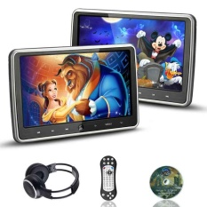 "10.1"" 1024*600 Car Headrest DVD Player Game Touch Button HDMI Monitor +Headphone"