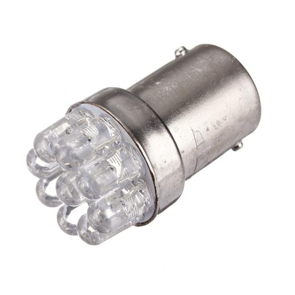 1156 Tail Brake Turn Signal 9 LED Bulb Lamp Light BA15S(Orange) - thumbnail