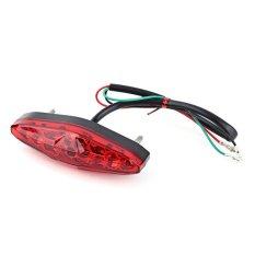 PHP 488. 12V 15 LED Motorcycle Brake Stop Running Tail Light Rear Light ATV Dirt Bike Universal(Red) ...