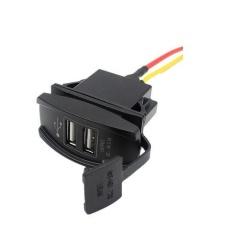 12V 24V Dual USB Charger Power Adapter (Black)