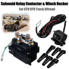 12v 400a Electric Winch Solenoid Relay W/ Rocker Switch For Atv Utv Truck Offroad - Intl By Teamtop.