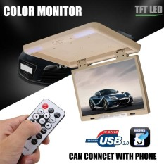 15.4 Lcd Tft Hdmi Car Ceiling Flip Down Monitor Roof Mount Overhead Player Usb - Intl By Autoleader.