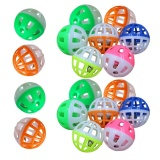 18pcs Pet Cat Play Balls Toy with Jingle Bell - intl image on snachetto.com