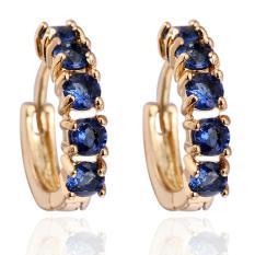 1Pair Girls Women Rhinestone Earrings Ear Hook Stud Jewelry BU - intl