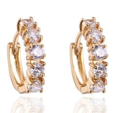 1Pair Girls Women Rhinestone Earrings Ear Hook Stud Jewelry WH - intl