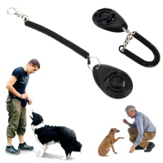 1pc Pet Trainer Pet Dog Training Adjustable Sound Key Chain Dog Clicker(black) - Intl By Welcomehome.