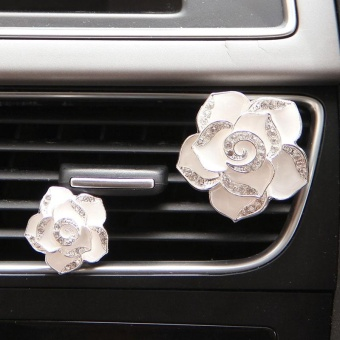 1PCs Car Flower Solid Vent Clip Perfume Freshener Diamond Air Conditioner Style - intl