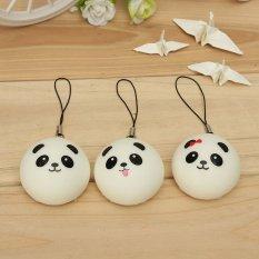 1PCS Soft Cute Panda Squishy Kawaii Buns Bread Charms Cell Phone Bag Key Strap NEW -