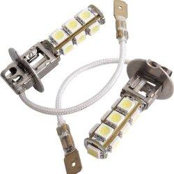 2 Car Auto H3 5050 SMD 13 LED Fog White Light Bulb Lamp