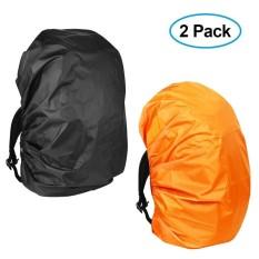 c1de8e36ae46 2 Pack Waterproof Backpack Rain Cover Lightweight Durable Elastic  Adjustable Rucksack Water Resist Cover for Camping