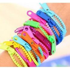 2 Pcs. Mixed Colors Neon Fluorescent Zipper Pull Bracelet Wristband Women Zipper Bracelet Jewelry For Kids Girls 9g By Geneva Online Shop.