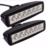 2X 18W Flood LED Work Light Bar Car Truck Boat Driving Lamp Fog Offroad SUV 4WD
