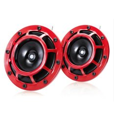 2 Pcs Universal Red Grille Mount Super Tone Loud 12v Compact Electric Horn Kit - Intl By Freebang.