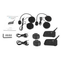 2 Sets V6-1200 Motorcycle Bluetooth Headset / Intercom 1200M Range Hands- free Interphone