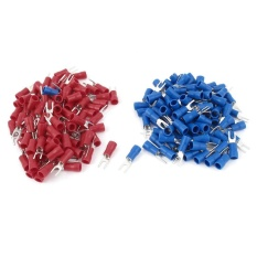 200pcs 16-14 Awg Red Blue Wire Connector Insulated Fork Terminal 4 - Intl By Sunnny2015.