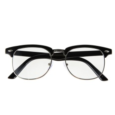 2015 Fashion Reading Eyewear Framed Glasses Optical Plain Glasses (Black) - intl