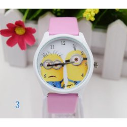 2017 New Fashion Cartoon Small Yellow People Ladies Watch Student Belt Quartz Watch - intl