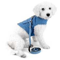 Pet Puppy Comfort Denim Vest No Pull Harnesses with Pocket, Lightweight, No More Pulling