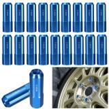 Blue EPMAN 20pcs M14X1.5 60mm Extended Forged Aluminum Tuner Racing Lug Nut Wheels Rims