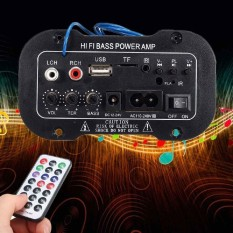 220v Mini Bluetooth Hi-Fi Bass Amplifier Amp For Cars Motorcycle Home Stereo - Intl By Versea.